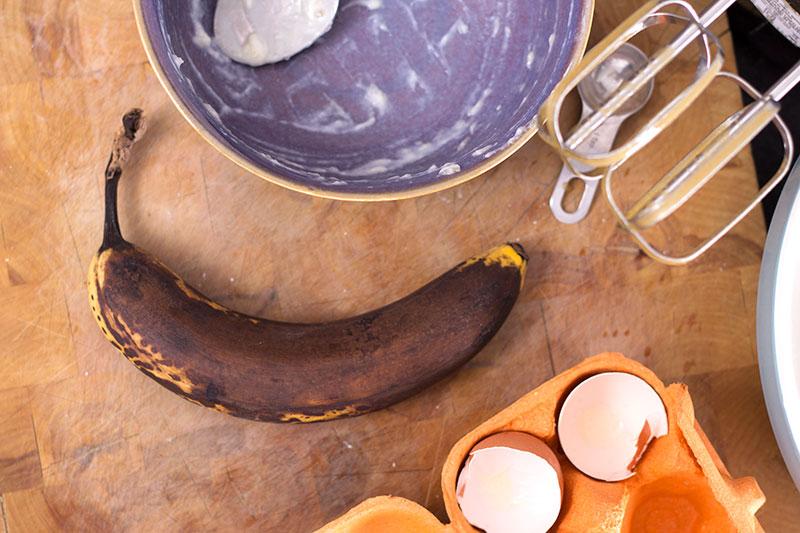 Ripe banana for banana cake