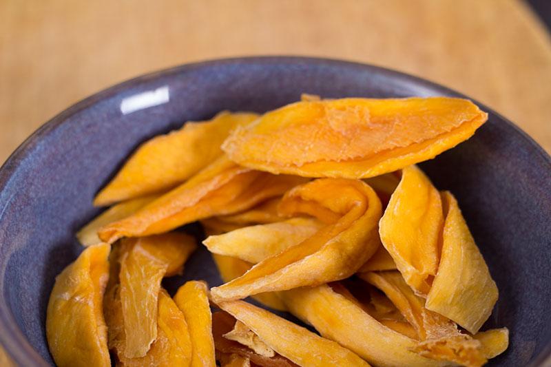 Bowl of dried mango