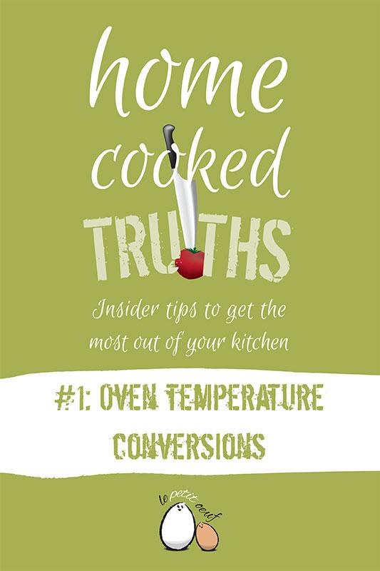 Free oven temperature conversion guide