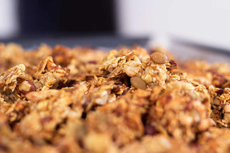 Home made granola no added sugar