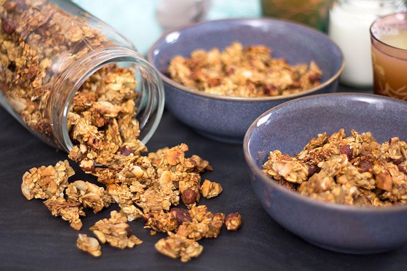 Home made granola no added sugar