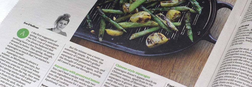 Guardian Cook readers' recipe swap asparagus