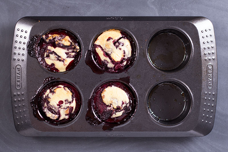 Mini cherry clafoutis with no added sugar