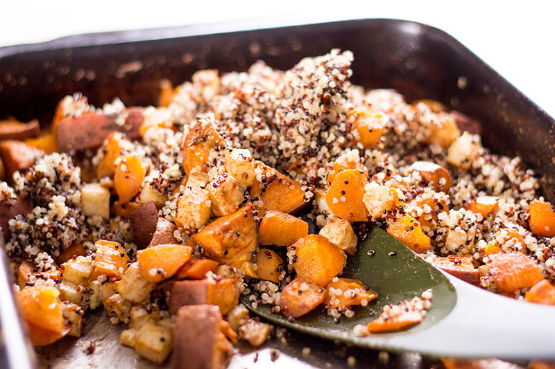 Spicy vegetable and preserved lemon quinoa