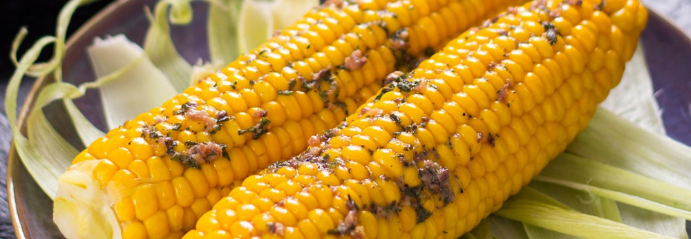 Anchovy butter with sweetcorn
