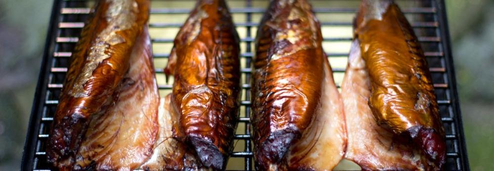 Whole smoked mackerel