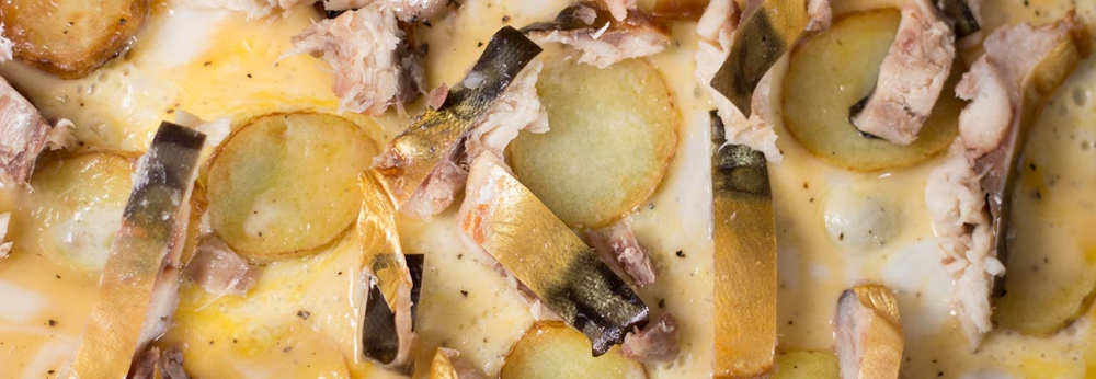 smoked mackerel horseradish omelette