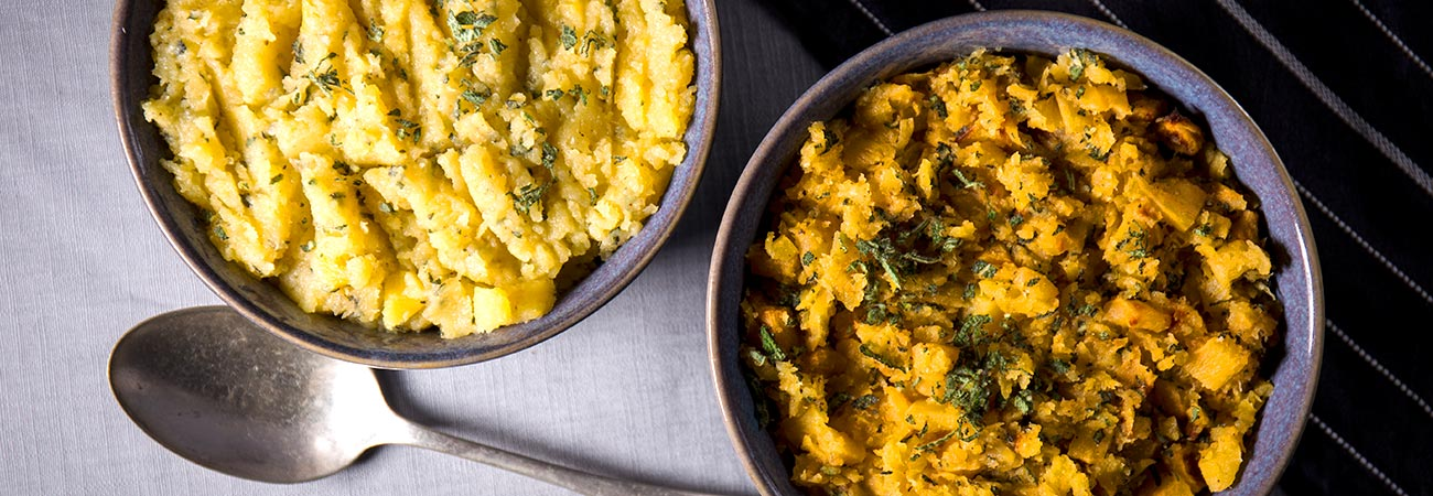 Dairy free sage and swede mash
