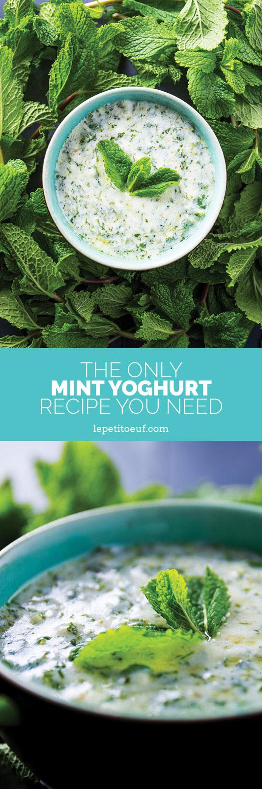 Mint yoghurt