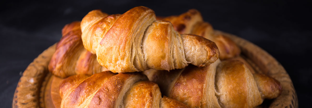 Make perfect patisserie treats at home with this recipe for all butter french croissant using spelt flour instead of wheat. These flaky, baked, enriched dough treats are a labour of love and use fresh yeast, milk, sugar, wholemeal spelt and white spelt flour.
