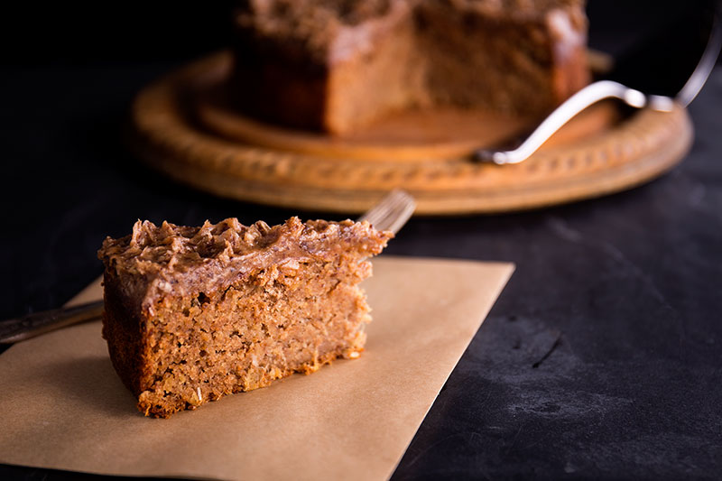 Dark and fiery spelt and rye ginger cake