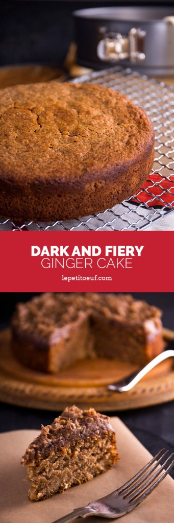 Dark and fiery spelt and rye ginger cake