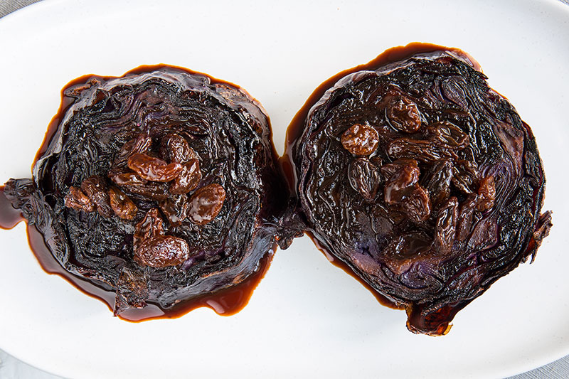 Balsamic soaked red cabbage