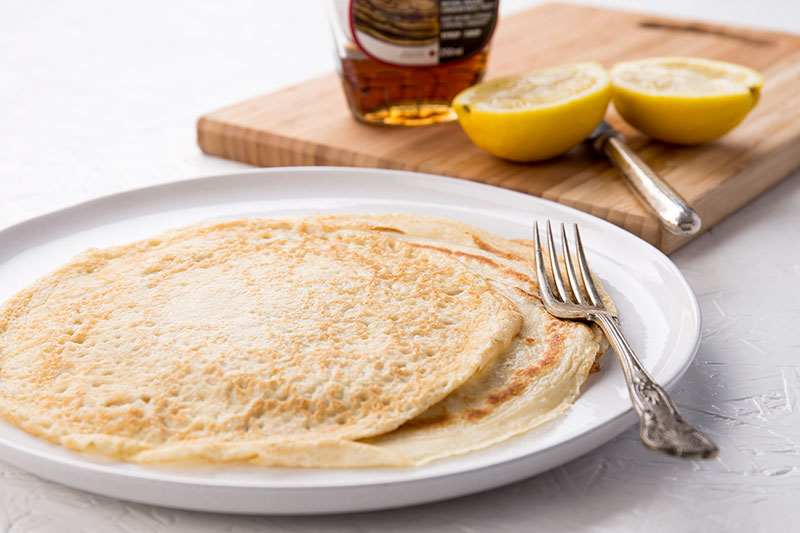 If you're looking for a wheat alternative pancake recipe, try these 'shrove Tuesday special' white spelt pancakes (or crepes) which are simple and dairy free, using oat milk or any other dairy free milk and are perfect slathered with maple syrup or lemon juice and sugar.