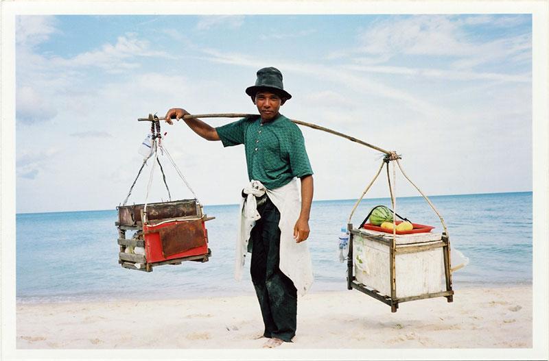 Thai beach trader, food vendor on Koh Samui