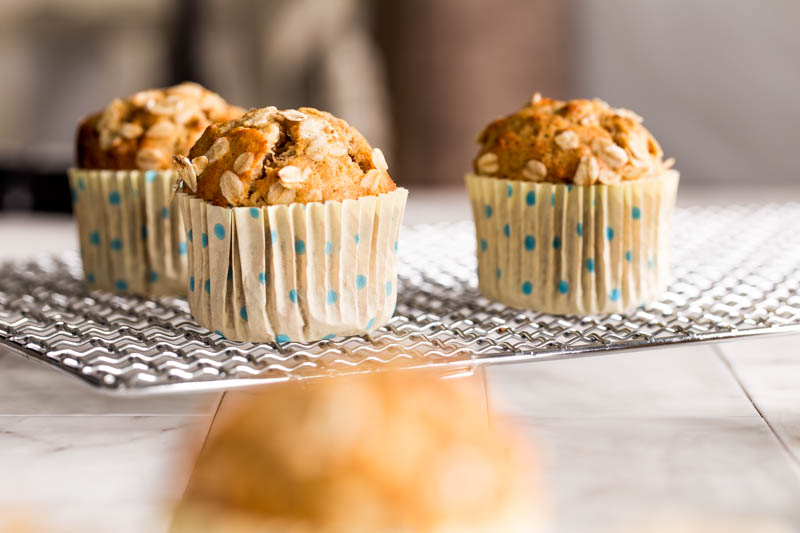 Maple syrup brings a rich sweetness to theses maple pecan spelt muffins stuffed with whole rolled oats, pecan nuts and no refined sugars, just naturally sweetened with banana and maple syrup. These easy spelt flour bakes make for a wholesome alternative muffin recipe that's just as tasty yet packs more positive nutrition, perfect for afternoon tea or a sweet weekend treat.