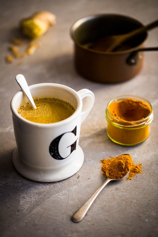 Hot, soul warming golden turmeric milk packed full of the spices turmeric and cinnamon, plus a fiery dose of ginger, a twist of pepper and some rounded honey to sweeten things up. This hot milk drink can be made with any milk, from cow and goat to any of the dairy free options you might like. It's the perfect way to kick off your day, or to round your evening off after a hard day.