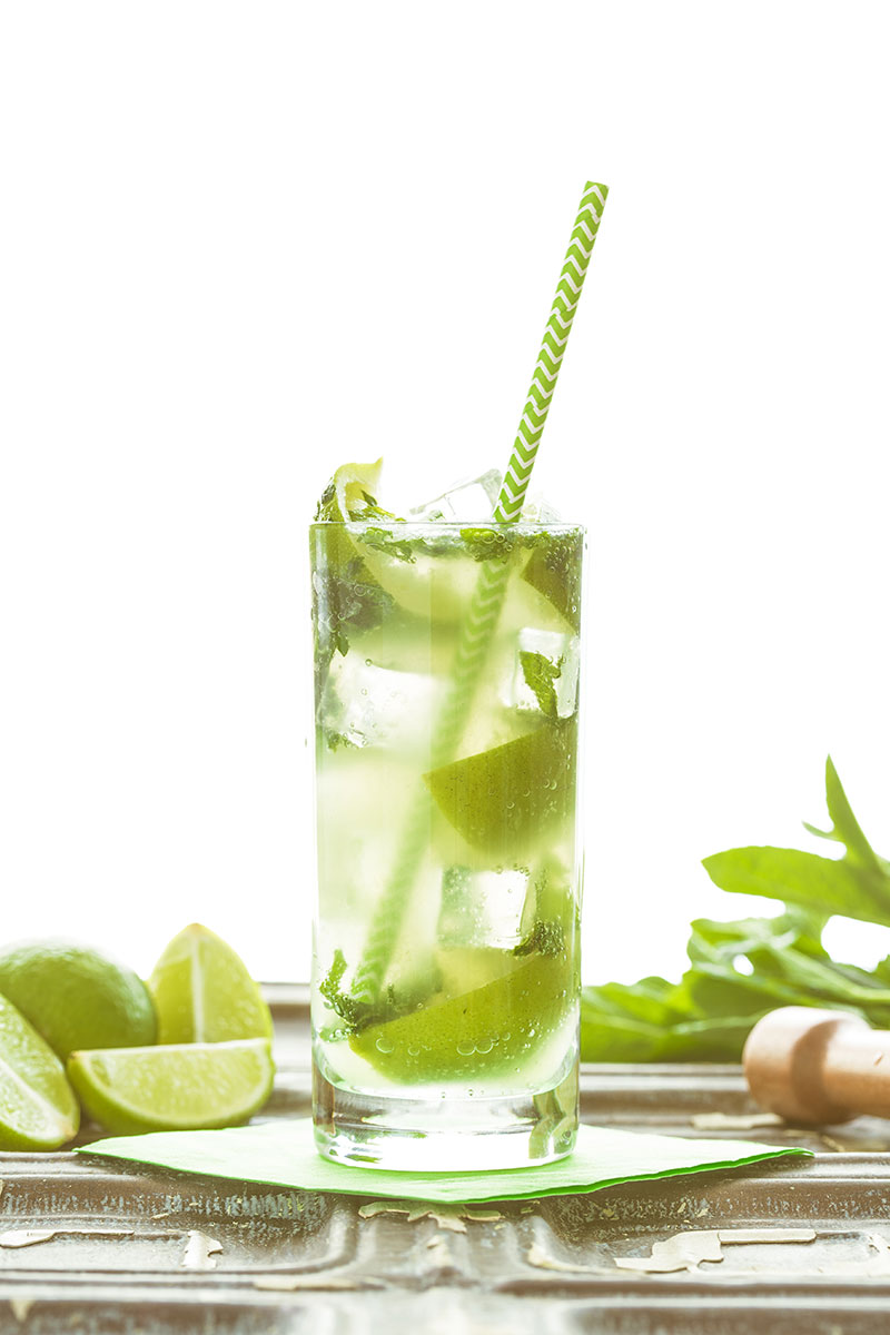 Virgin mojitos, or 'nojitos' are the most refreshing drink this side of a fresh lime soda. Perfect for a hot summer day or when you simply don't want alcohol, these alcohol free cocktails are stunningly tasty, filled bashed lime and mint, topped up with chilled soda and ice cubes. The perfect mocktail for any occasion.