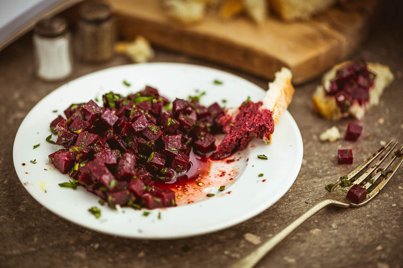 Today's recipe is a simple beetroot and mint salad with a pomegranate dressing, made with just a few ingredients and prepared in a matter of minutes. This delightful vegan and vegetarian dish makes a perfect side dish for a quick lunch or salad staple for the summer BBQ season.