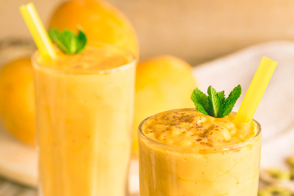Mango season is the time to make a Mango Lassi, the traditional Indian yoghurt drink which is as refreshing as the morning dew and perfect for a hot summers day. I've included the option to make this dairy free as well!